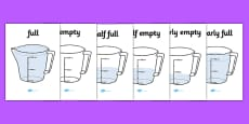 Capacity Display Posters (Jugs)