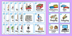 Visual Timetable Nursery FS1 Arabic Translation