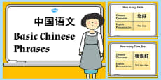 Basic Chinese Phrases PowerPoint