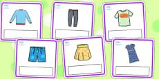 Editable Clothes Cards