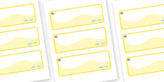 Pearl Themed Editable Drawer-Peg-Name Labels (Colourful)