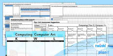 PlanIt - Computing Year 2 - Computer Art Assessment Pack