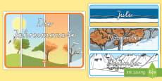 * NEW * Jahresmonate Wortschatz: Karten
