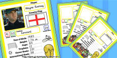 Editable World Cup Themed Card Game