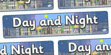 Day and Night Display Banner