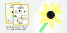Hand Print Sunflowers Craft Instructions