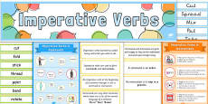 Imperative Verbs Display Pack
