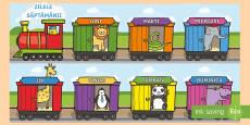 Trenulețul cu zilele săptămânii Planșe