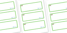 Grasshopper Themed Editable Drawer-Peg-Name Labels (Blank)