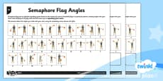 PlanIt Y5 Properties of Shapes Semaphore Flag Angles Home Learning