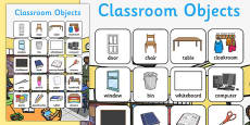 Classroom Objects Vocabulary Poster