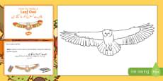 Leaf Owl Craft Instructions Urdu Translation