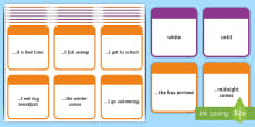 KS2 Time Conjunctions Number 2 Card Game