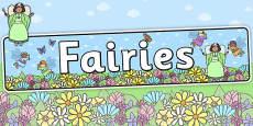 Fairies Display Banner