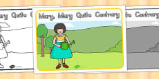 Mary, Mary, Quite Contrary Story Sequencing (Australia)
