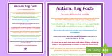 Key Facts About Autism Display Poster