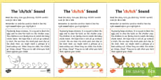 Northern Ireland Linguistic Phonics Stage 5 and 6 Phase 3a, 'ch, tch' Sound Activity Sheet
