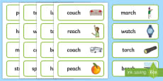 Final Ch Sound Word Cards
