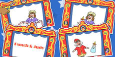 Punch and Judy Story Sequencing