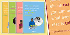 Reading Quote Posters for KS3
