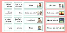 Greetings Flashcards Gaeilge