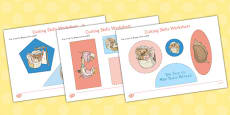 The Tale of Mrs Tiggy Winkle Cutting Skills Activity Sheet (Beatrix Potter)