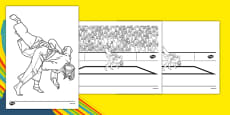 Rio 2016 Olympics Judo Colouring Sheets