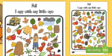 * NEW * Fall Themed I Spy Activity