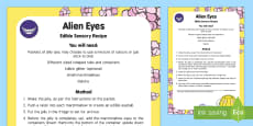 Alien Eyes Edible Sensory Recipe