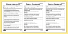 KS1 Science Exemplification Checklist