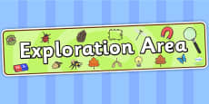 Exploration Area Display Banner