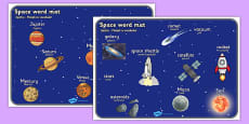 Space Word Mat Romanian Translation
