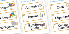 Leopard Themed Editable Classroom Resource Labels