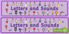 Letters and Sounds Display Banner