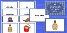 Burns Night Scottish Words Quiz