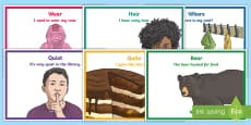 * NEW * Year 3 Homophones and Near Homophones Display Poster