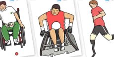 The Olympics Editable Paralympics Images