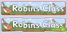 Robins Class Display Banner