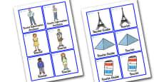Paris Tourist Information Role Play Badges