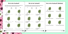 Spring Themed Location Prepositions Activity Sheet