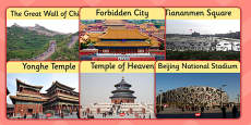 Beijing Tourist Attractions Role Play Posters