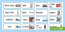 The Titanic Word Cards
