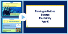 Year 6 Early Morning Science Activities Electricity