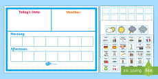 Daily Visual Timetable Display Poster