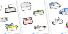Editable Self Registration Labels (Transport)
