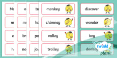 PlanIt English Year 2 Term 2B Spelling Word Cards