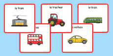 Transport Sorting Cards French