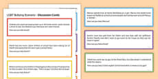 LGBT Bullying Scenario Discussion Cards