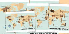 The Stone Age World Display Poster