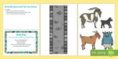 The Three Billy Goats Gruff Trip Trap Activity Busy Bag Prompt Card and Resource Pack